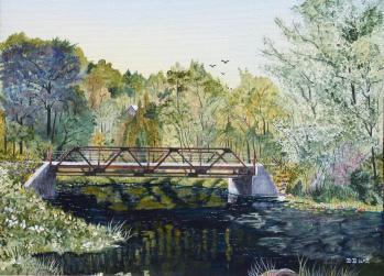 Sutton Road Bridge Over Beaver Creek 12x16 Canvas (SOLD)
