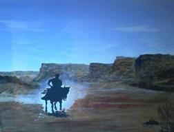 Lone Rider On canvas