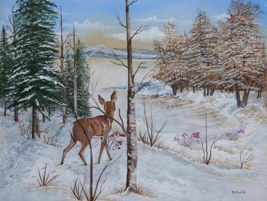 Winter's Beauty 16x20 Canvas