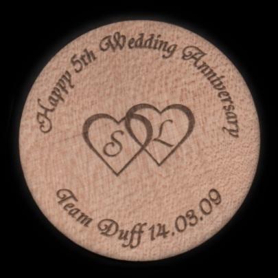 5th wedding anniversary coaster
