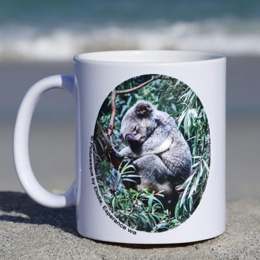 funny koala coffee mug