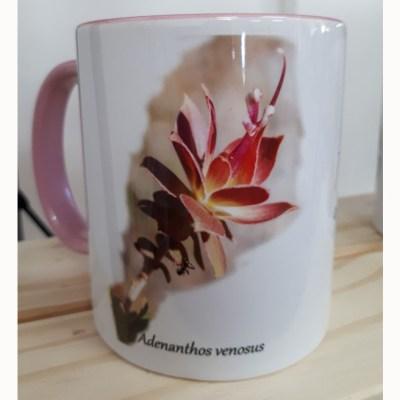 pink coffee mug flower