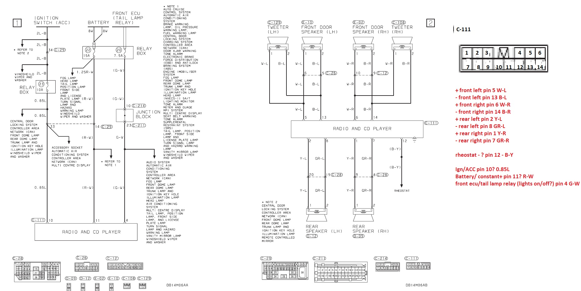mitsubishi lancer audio wiring diagram