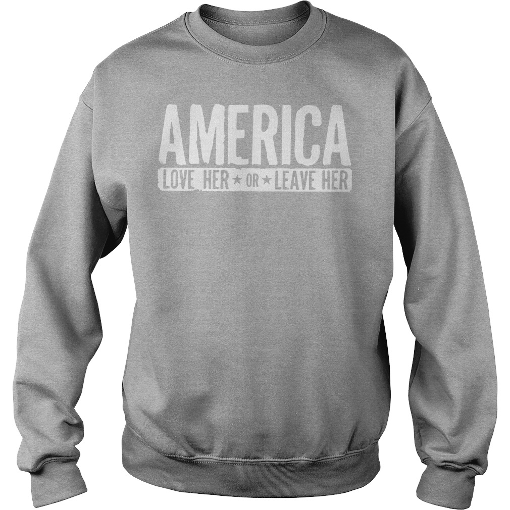 AMERICA Love her or leave her workout Sweater