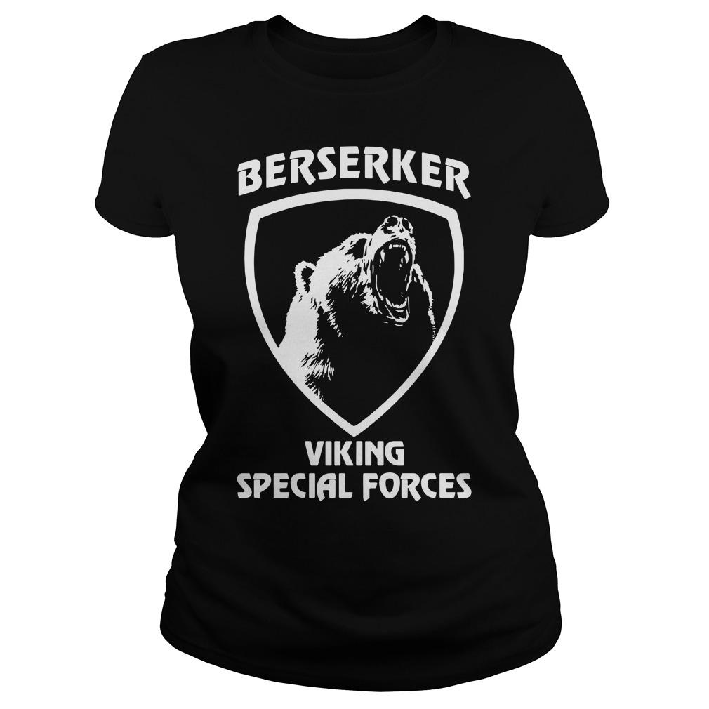 Black bear Berserker Viking Special forces Black bear Ladies tee
