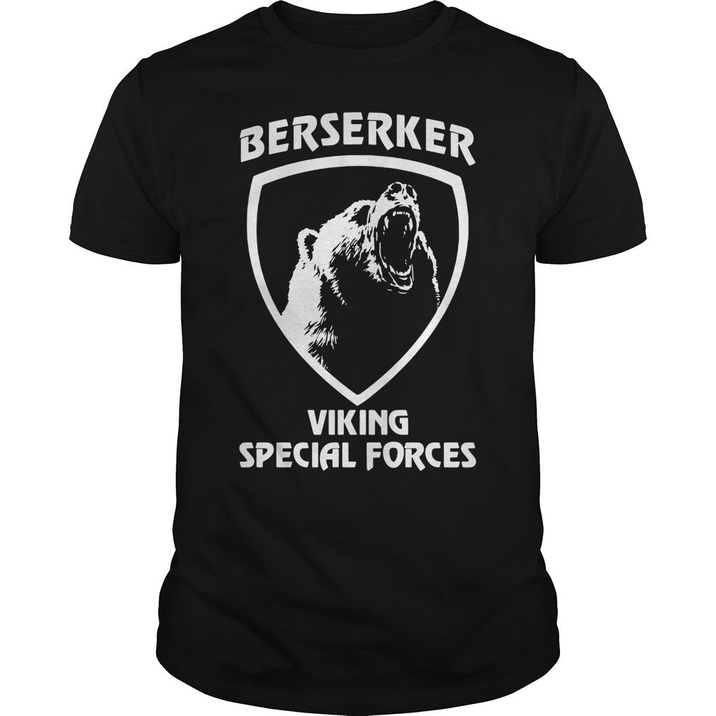 Black bear Berserker Viking Special forces Black bear shirt