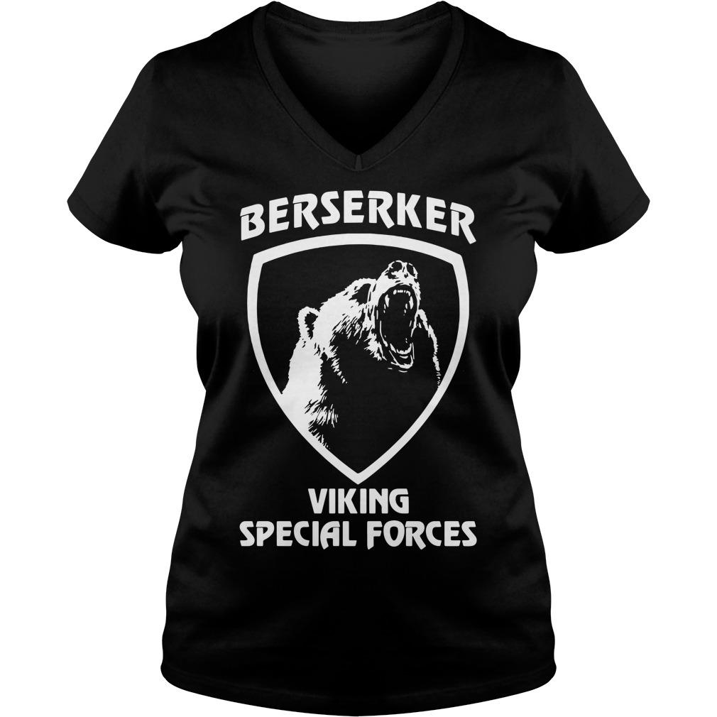 Black bear Berserker Viking Special forces Black bear V-neck t-shirt