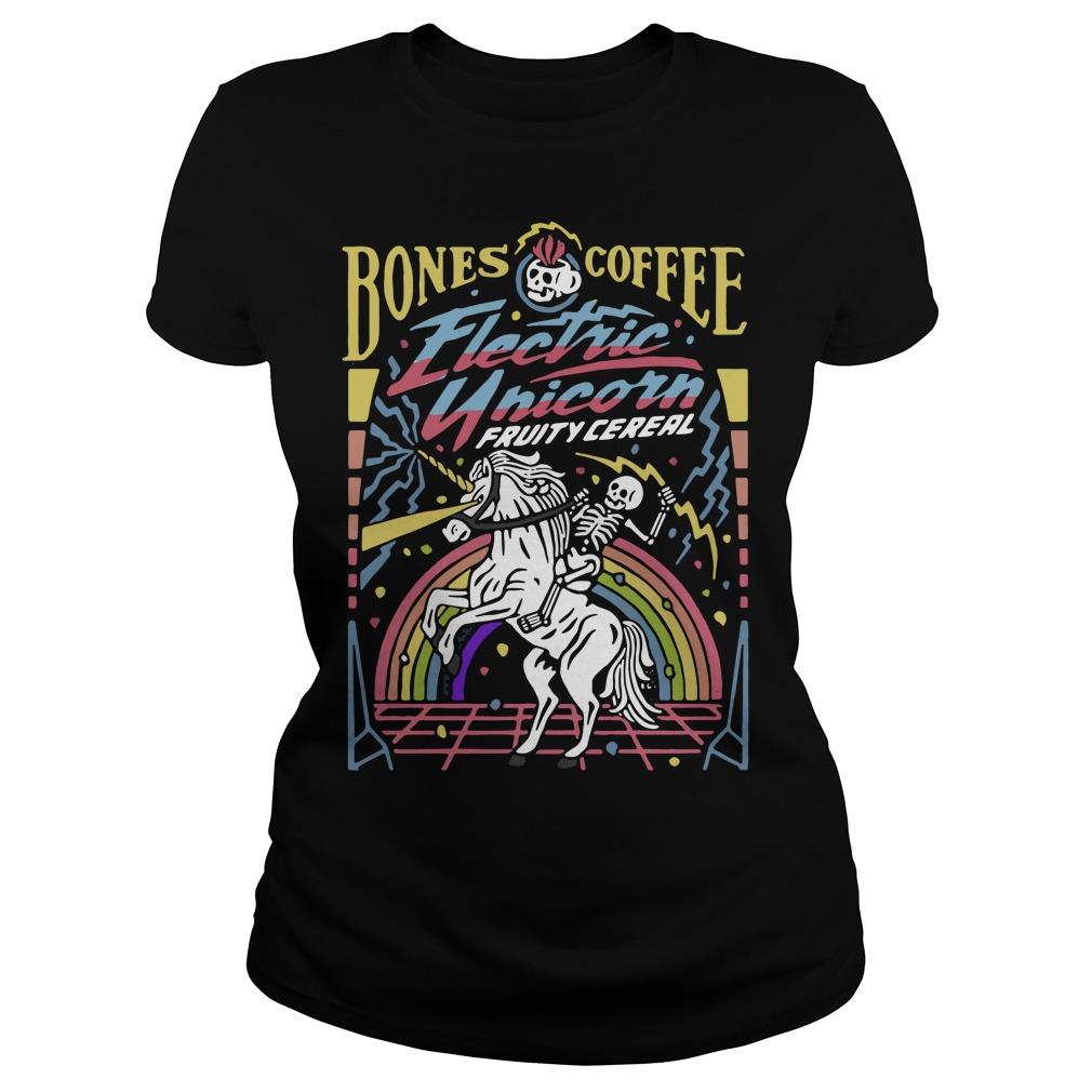 Bones coffee electric unicorn fruity cereal Ladies tee