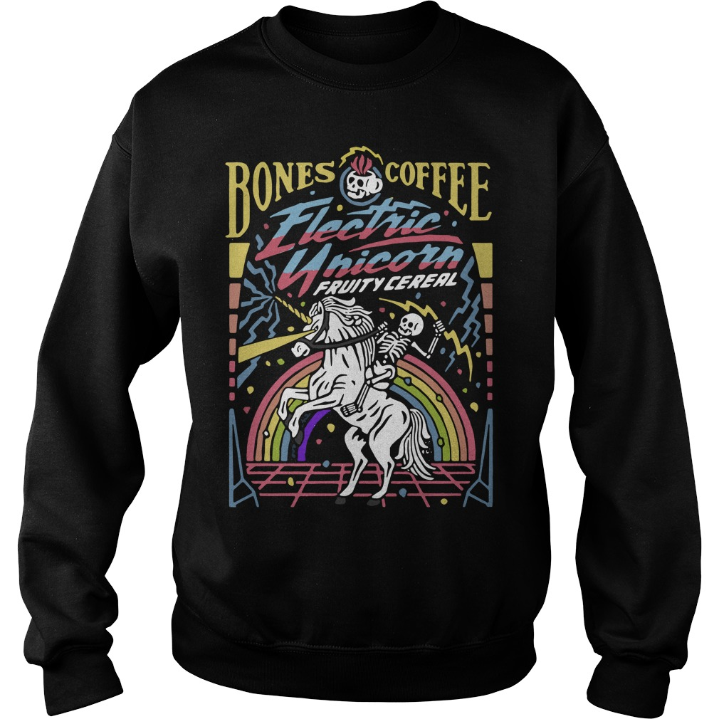 Bones coffee electric unicorn fruity cereal Sweater