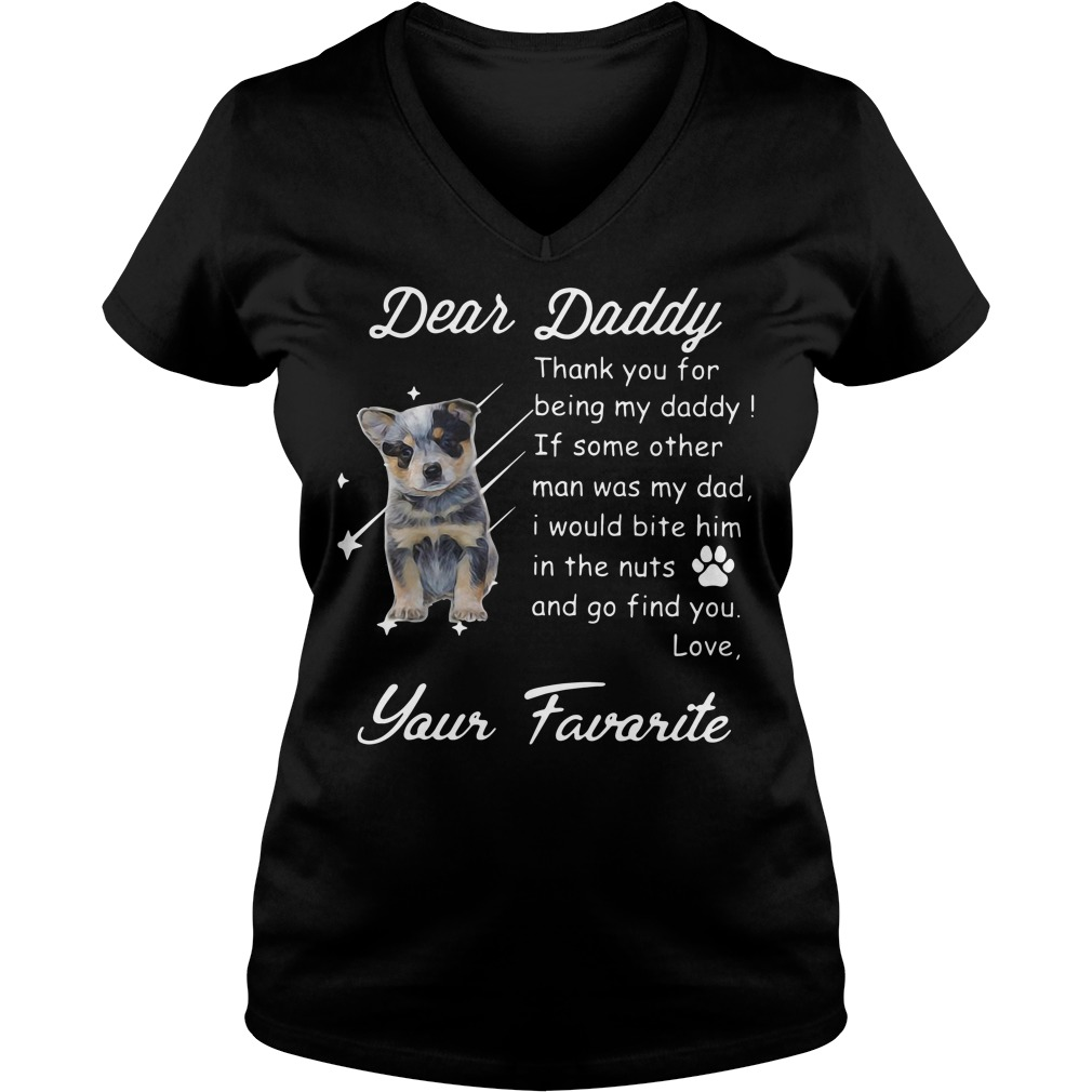 Dear daddy thank you for being my daddy V-neck t-shirt