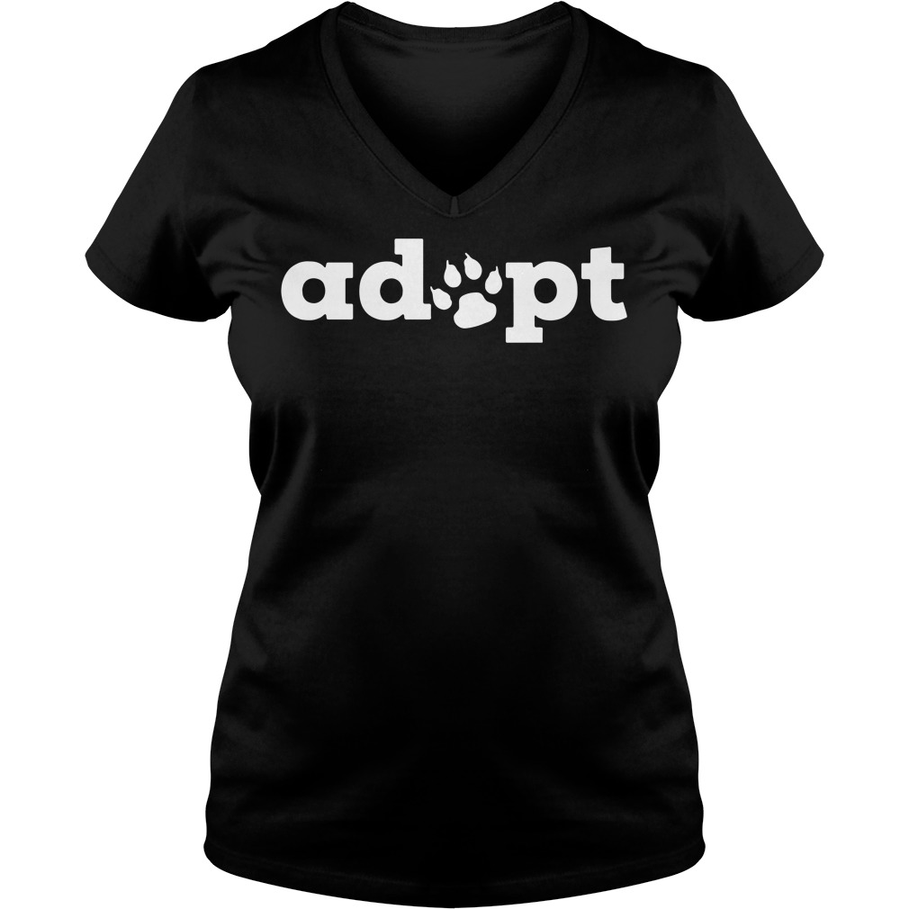 Dog adopt V-neck t-shirt