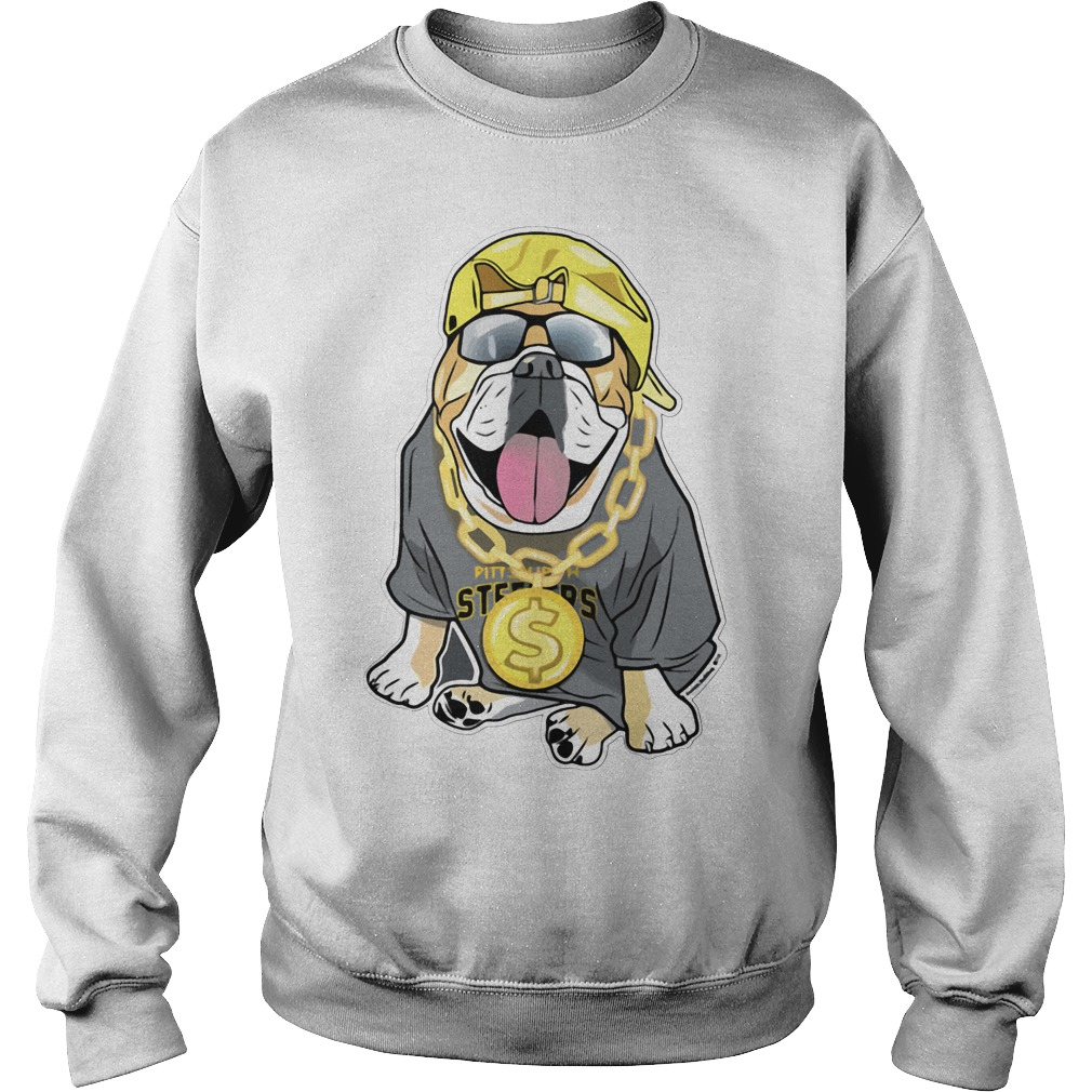 Fenway Forever artistic bulldog Pittsburgh Steelers Sweater