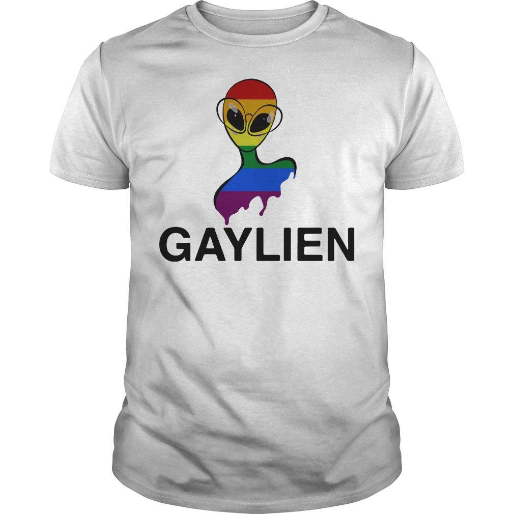Gaylien LGBT rainbow pride parade shirt