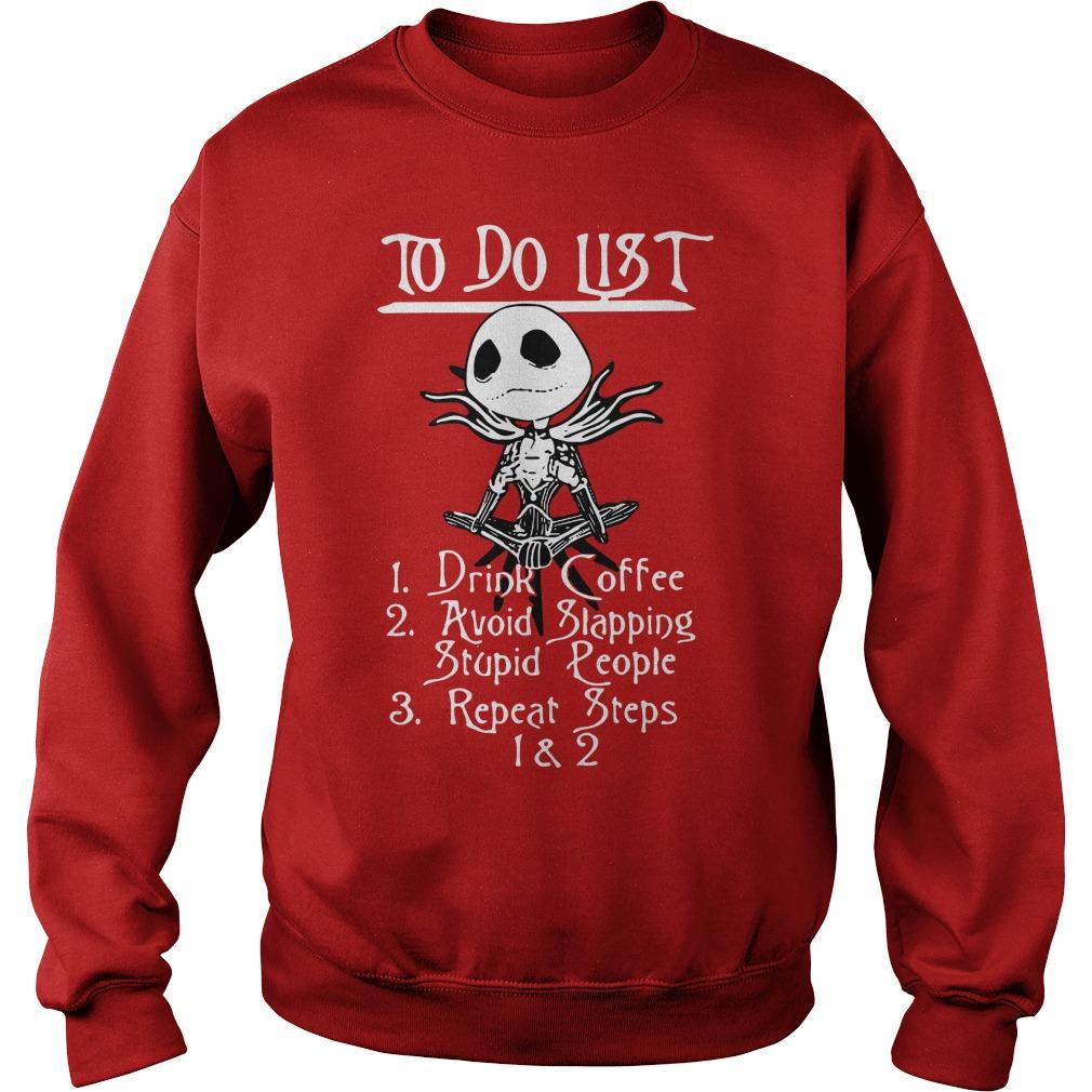 Jack Skellington Nightmare To do list Sweater