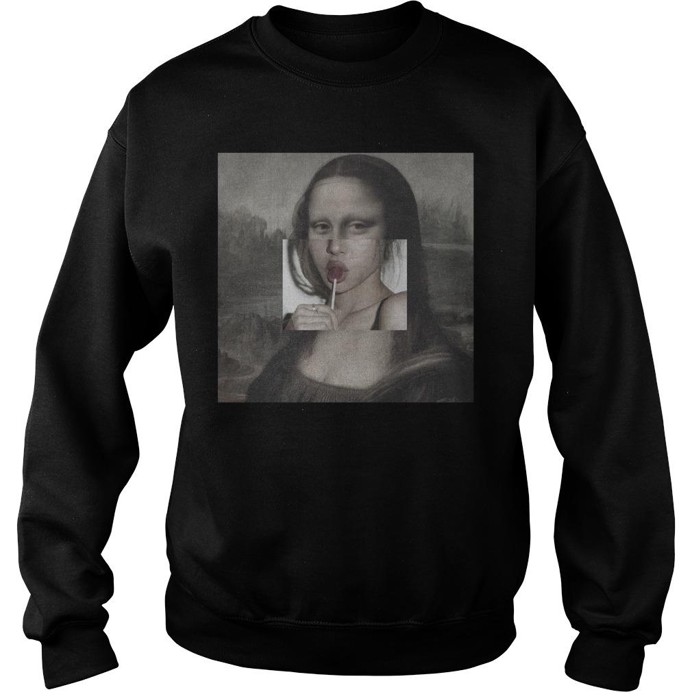 Mona Lisa Lollipop Lips Hoodie