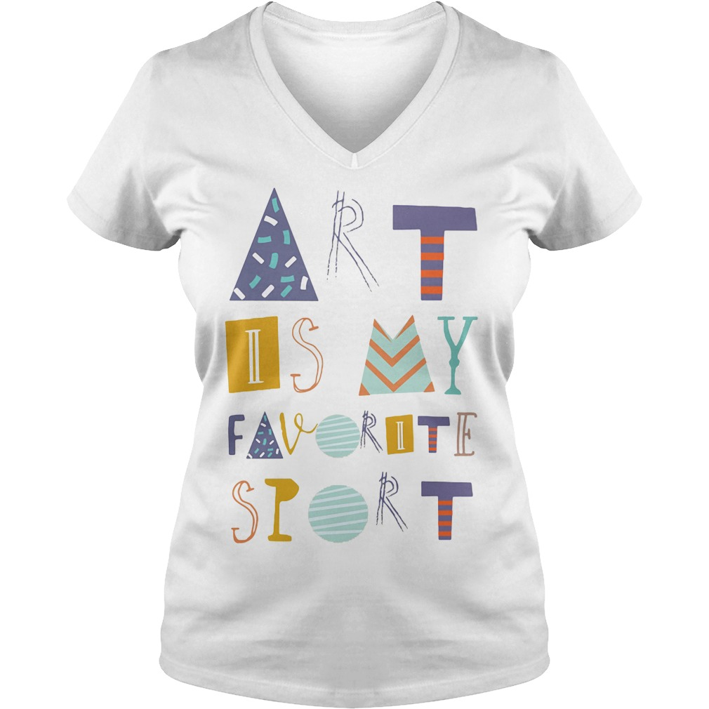 Official Art is my favorite sport graphics V-neck t-shirt