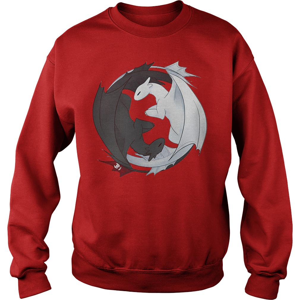 Official Toothless Night Fury and Light Fury Yin Yang Sweater