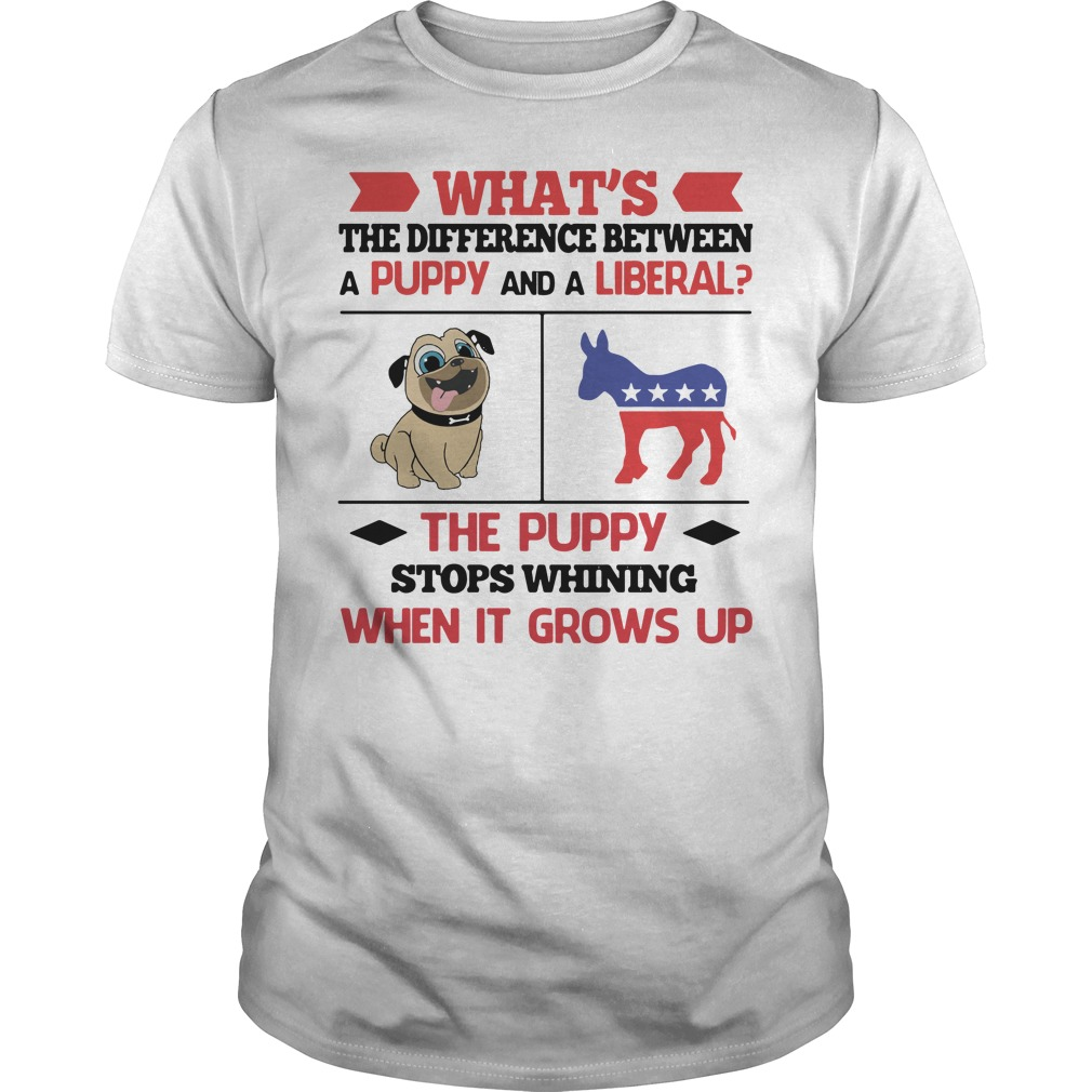 What's the difference between a puppy and a liberal Guys tee