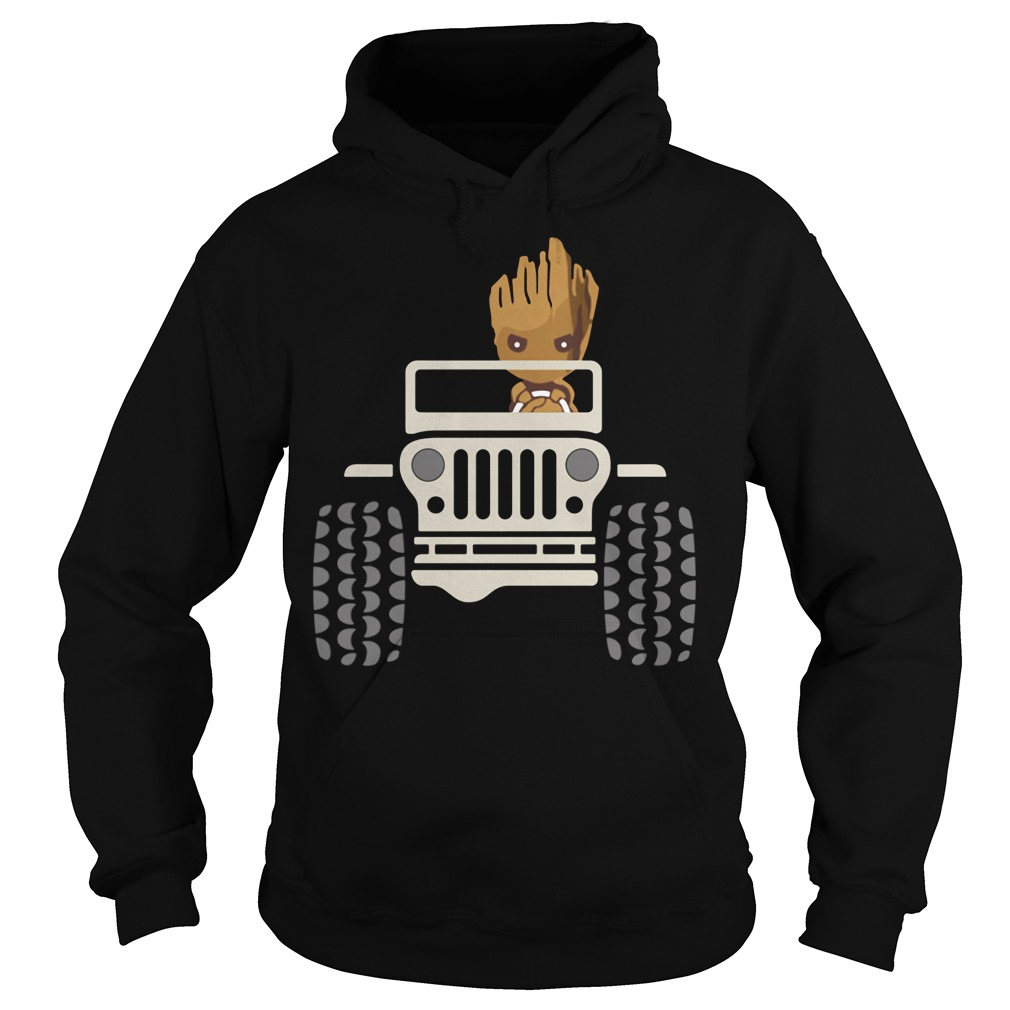 Baby Groot Drive Jeep Hoodie