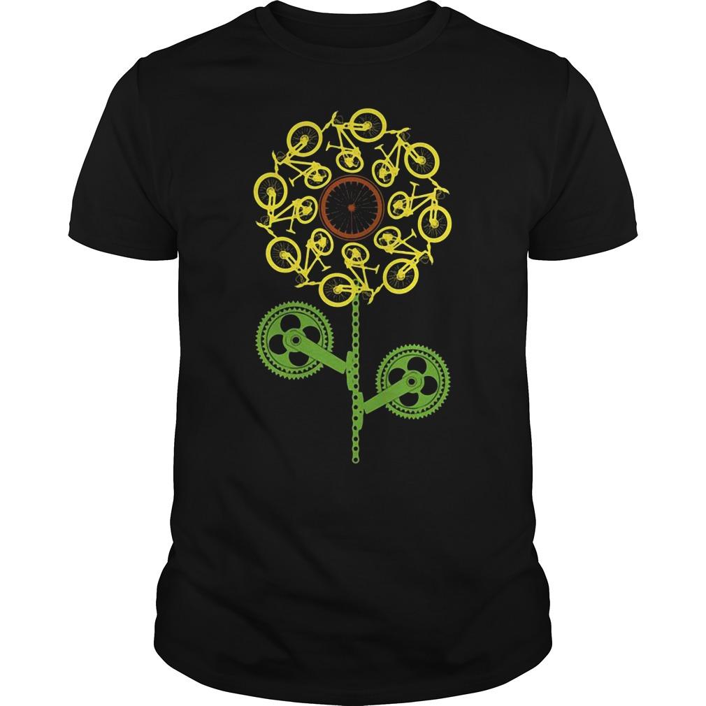 Bicycle sunflower Guys tee