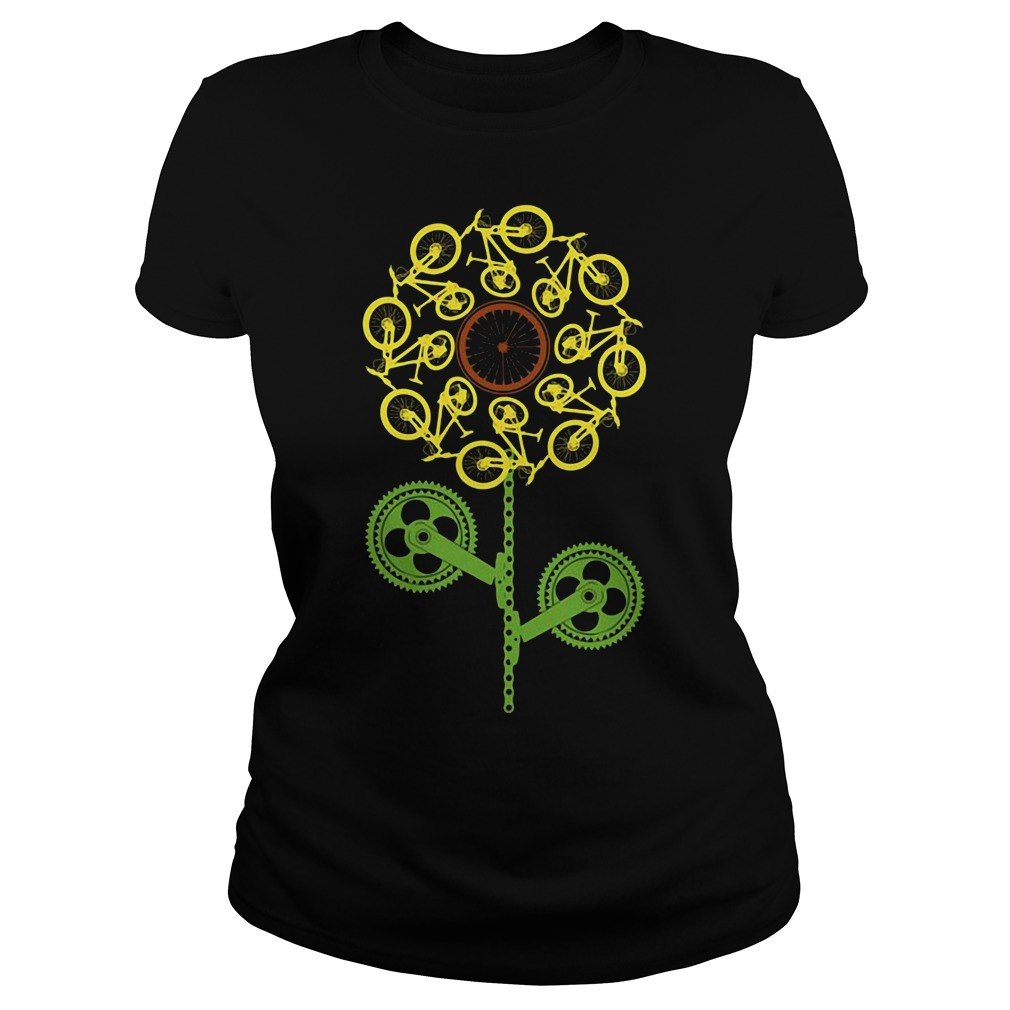 Bicycle sunflower Ladies tee