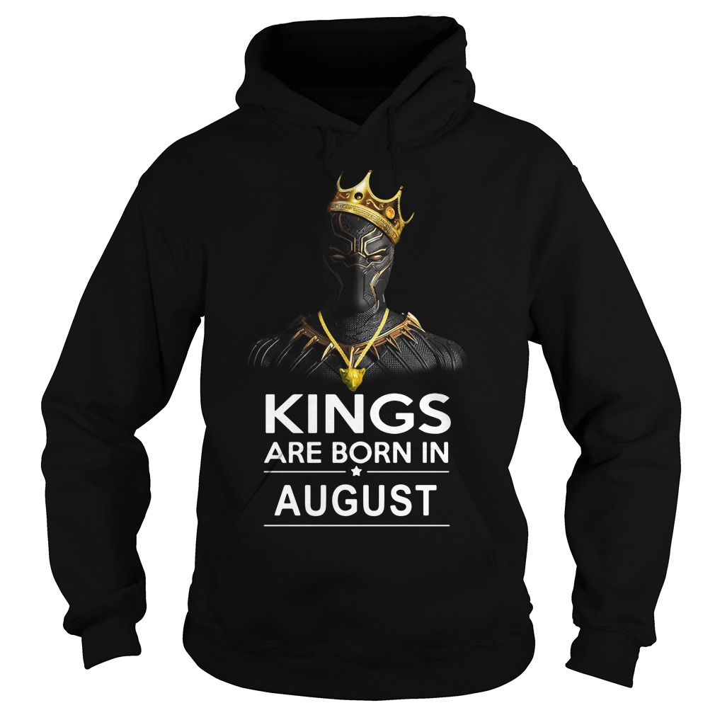 Black Panther Kings are born in August Hoodie