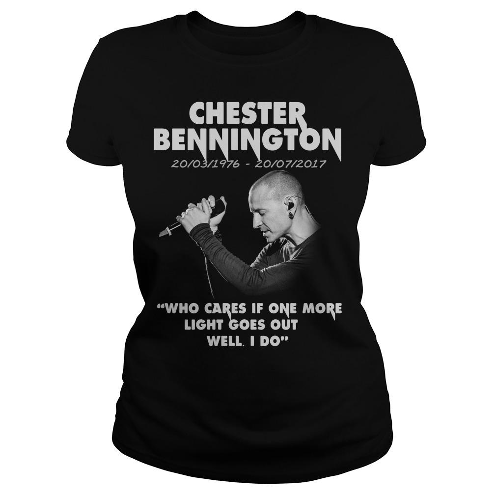 Chester Bennington Who Cares Ladies tee
