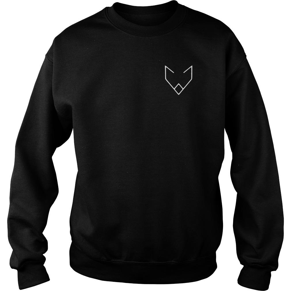Crystal Wolf Logo Sweater