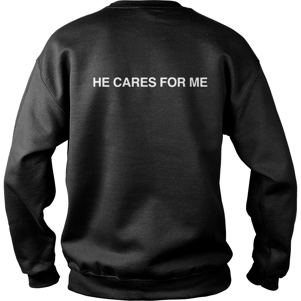I met Saba He cares for me Sweater back