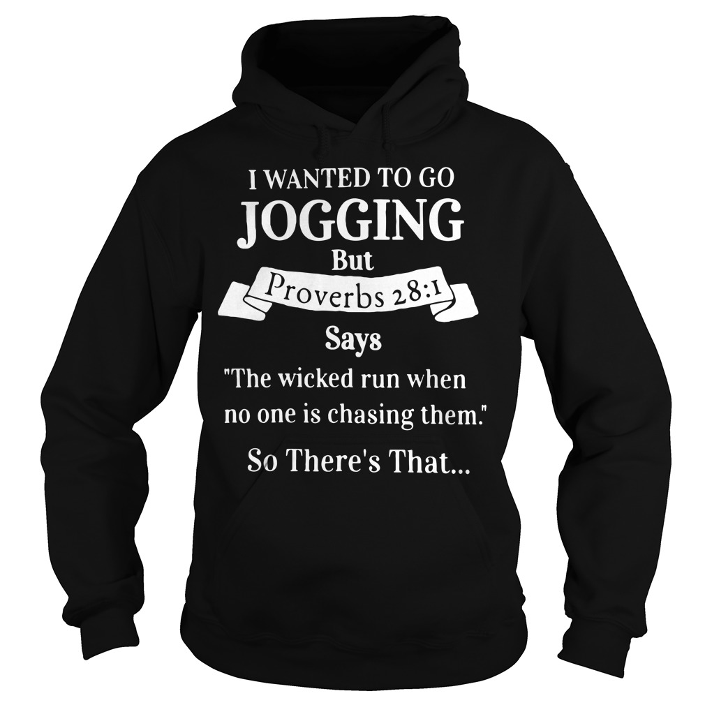 I Wanted to Go Jogging But Proverbs 28: 1 Hoodie