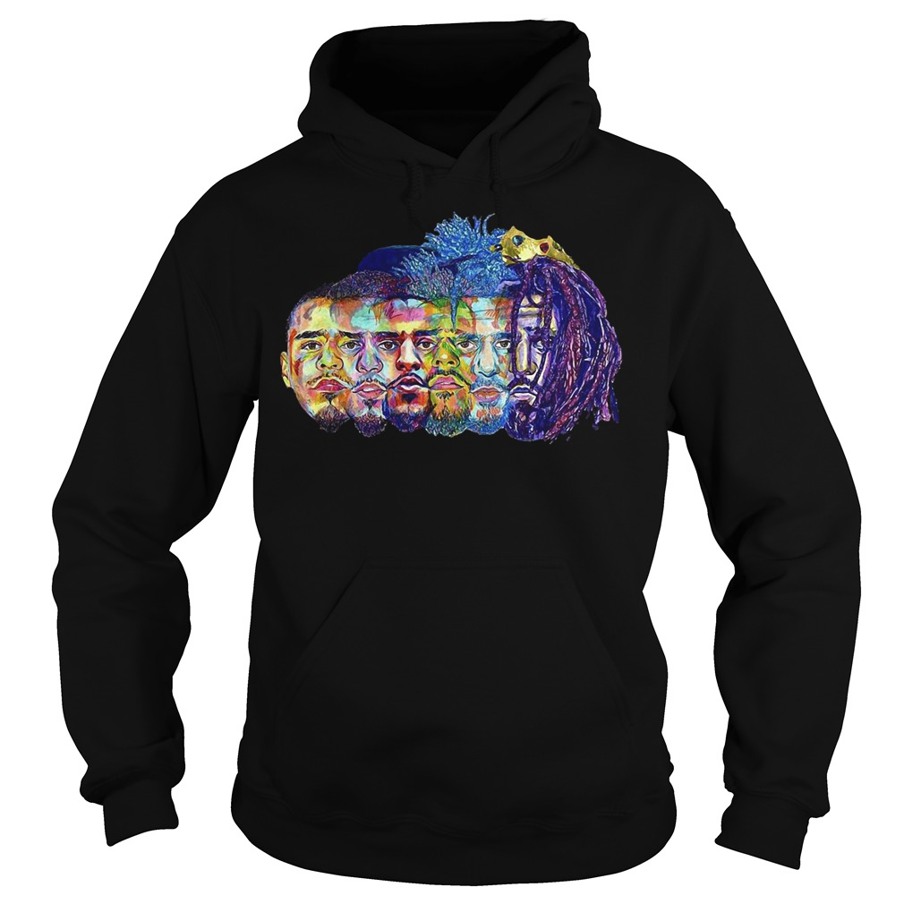 J Cole illustration art Hoodie