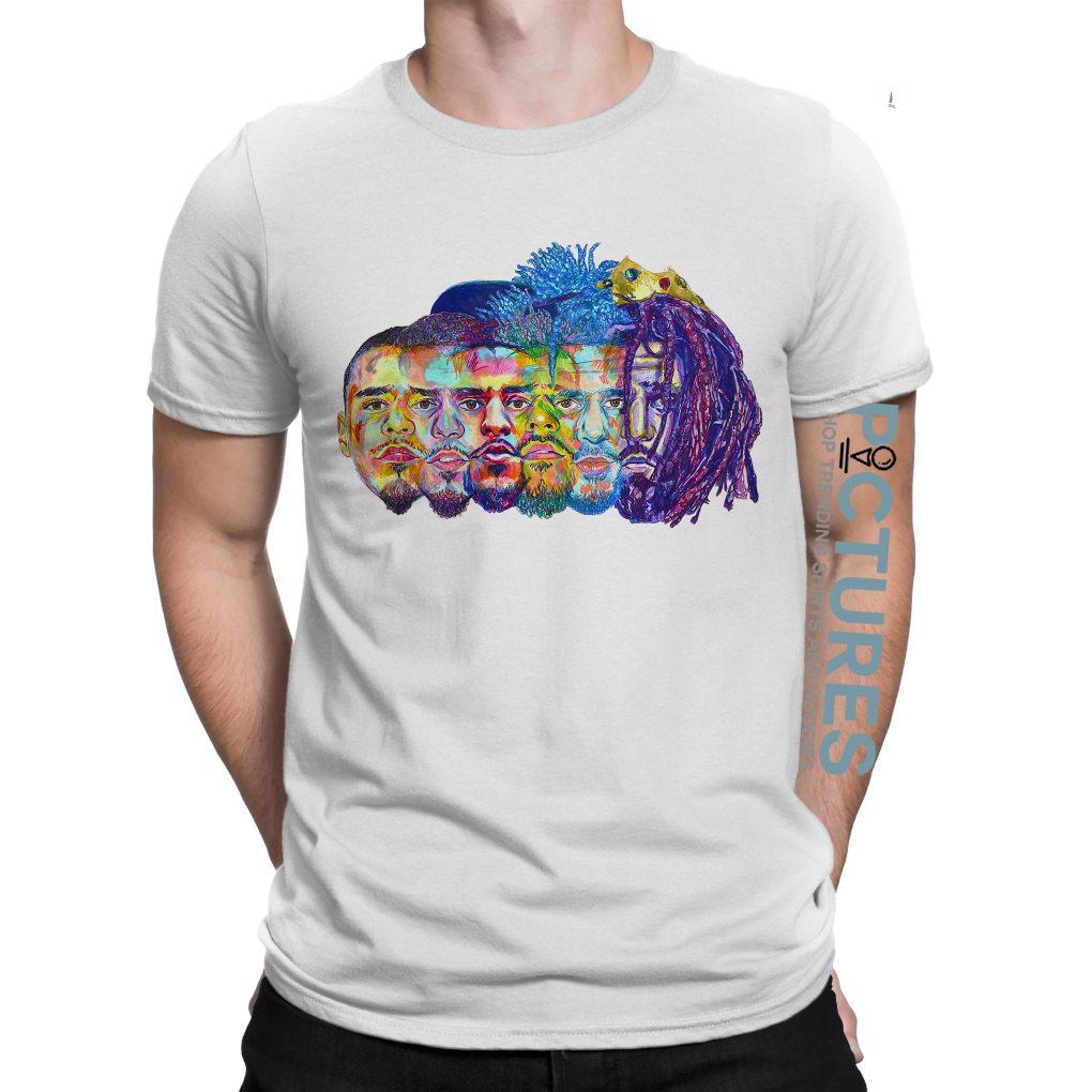 J Cole illustration art T-shirt