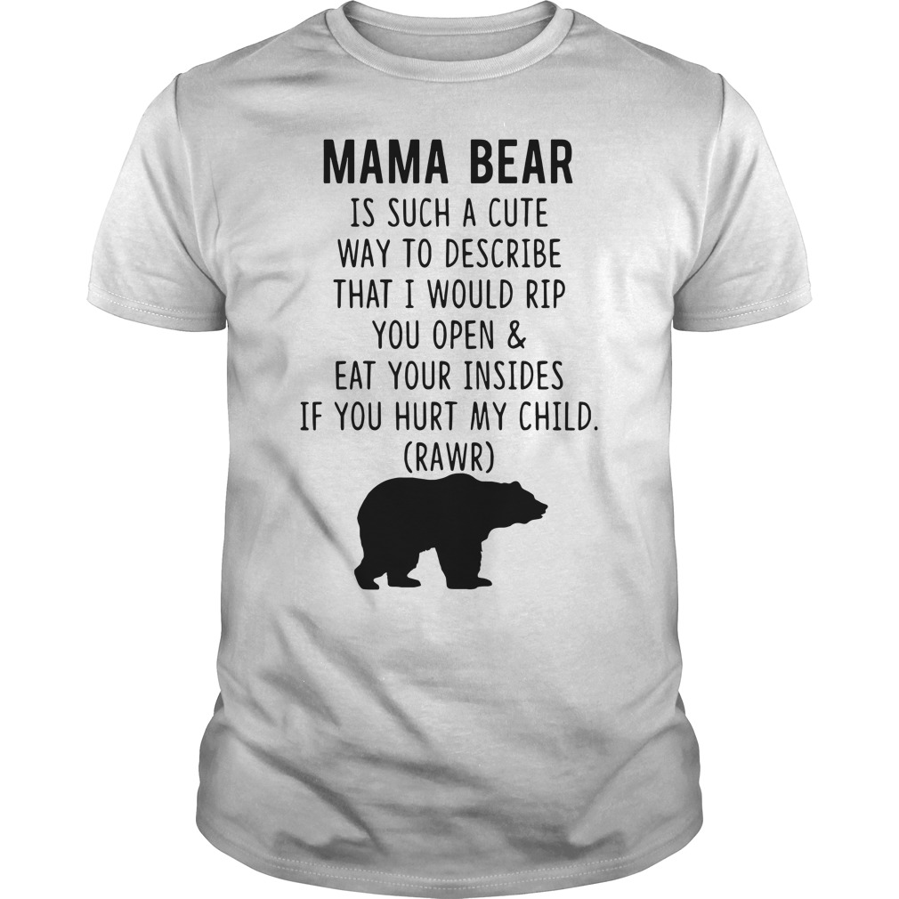 Mama Bear is such a cute way to describe Guys tee