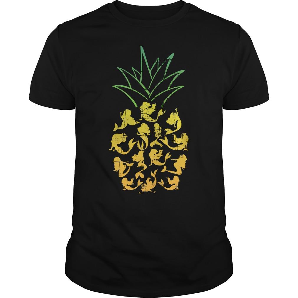 Mermaid Pineapple Guy tee