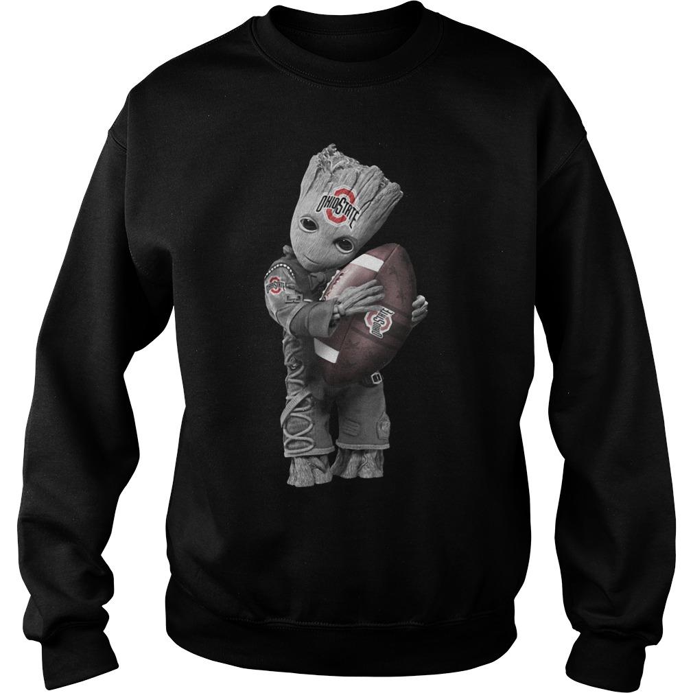 Official Baby Groot Hug Ohio State Buckeyes Sweater