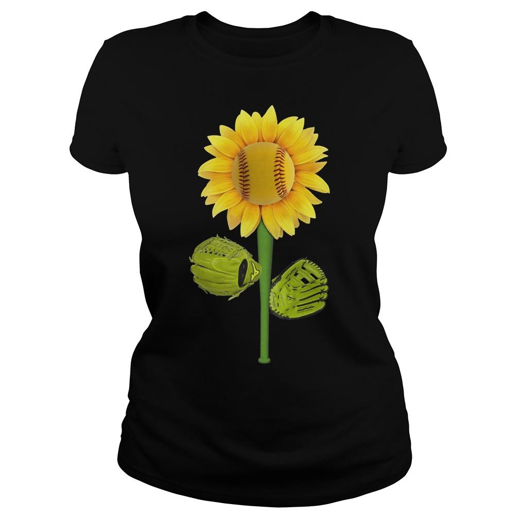 Official Baseball Sunflower Ladies tee