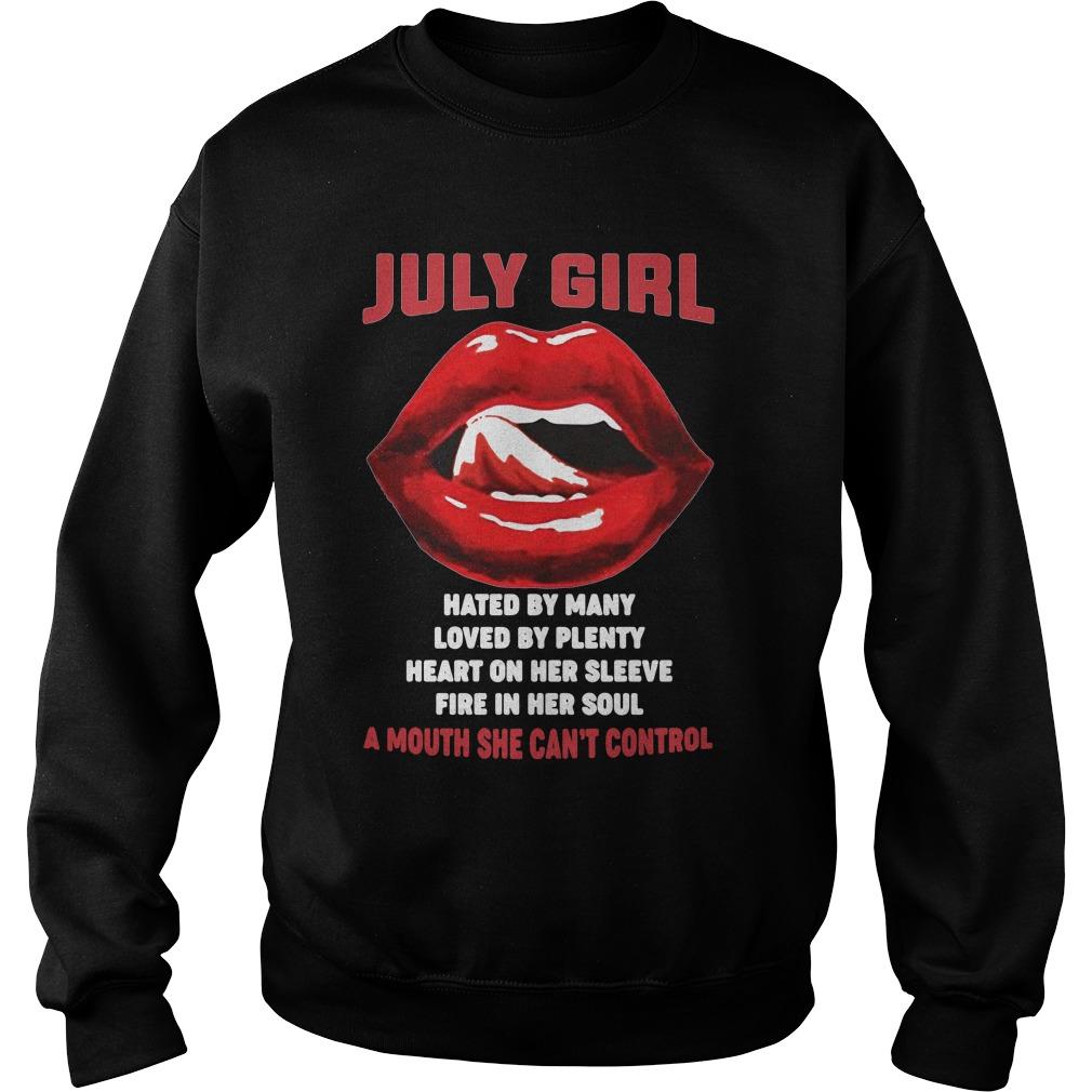 Official July girl hated loved heart fire plenty lips Sweater