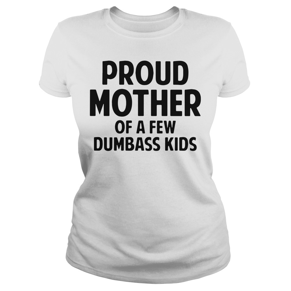 Official Proud Mother of a few dumbass kids ladies tee