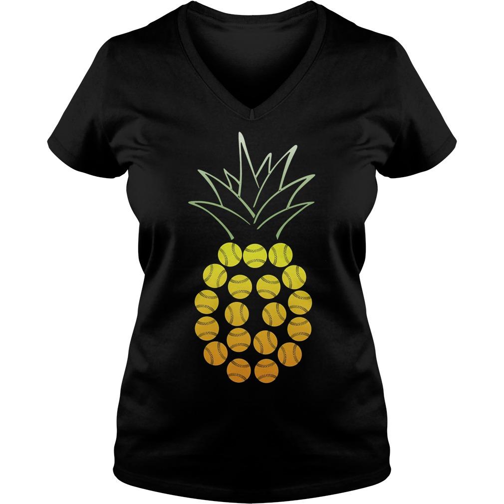 Official Softball Pineapple V-neck