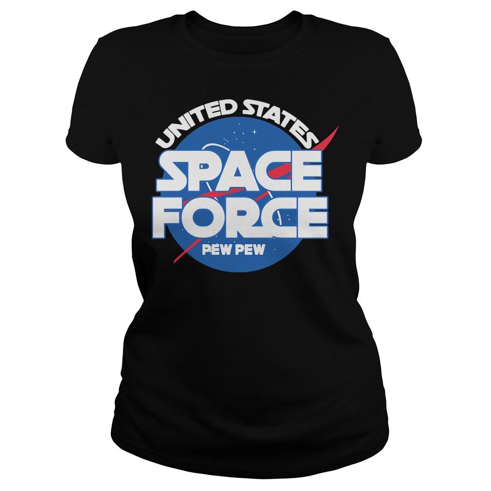 Official Space force pew pew Ladies tee