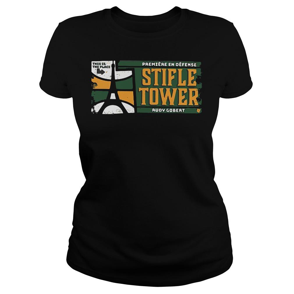 Official Stifle Tower Utah Rudy Gobert Ladies tee
