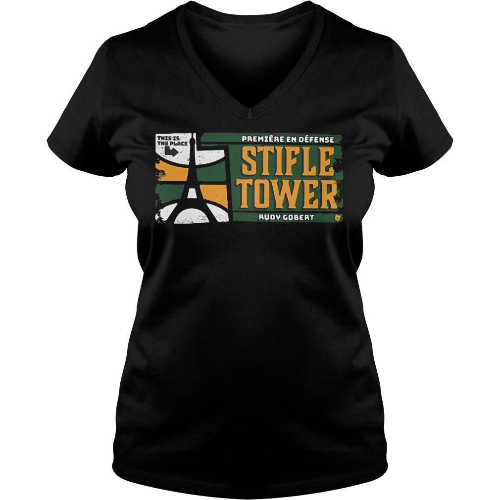 Official Stifle Tower Utah Rudy Gobert V-neck t-shirt
