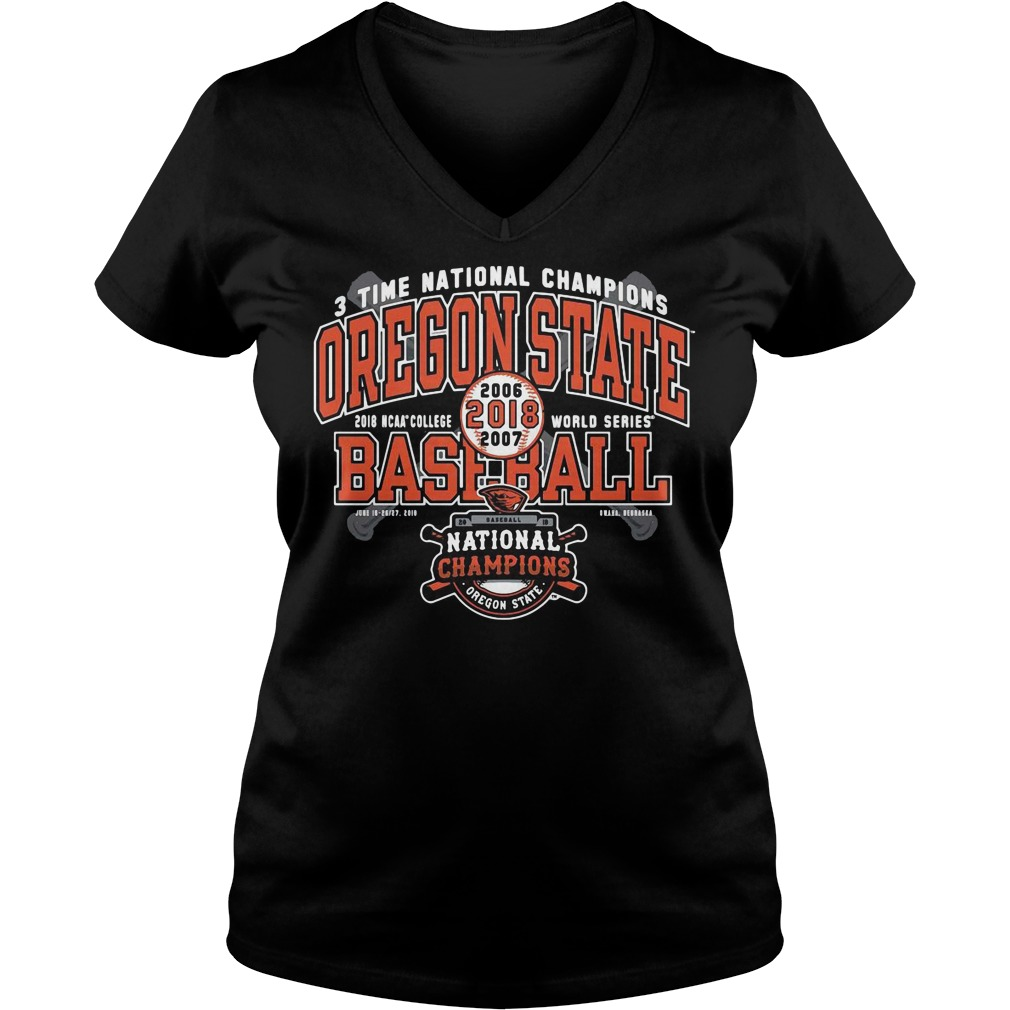 Oregon State Beavers National Champions Grand Slam V-neck t-shirt
