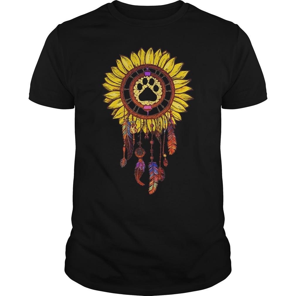 Sunflower Paw DreamCatcher Guys tee