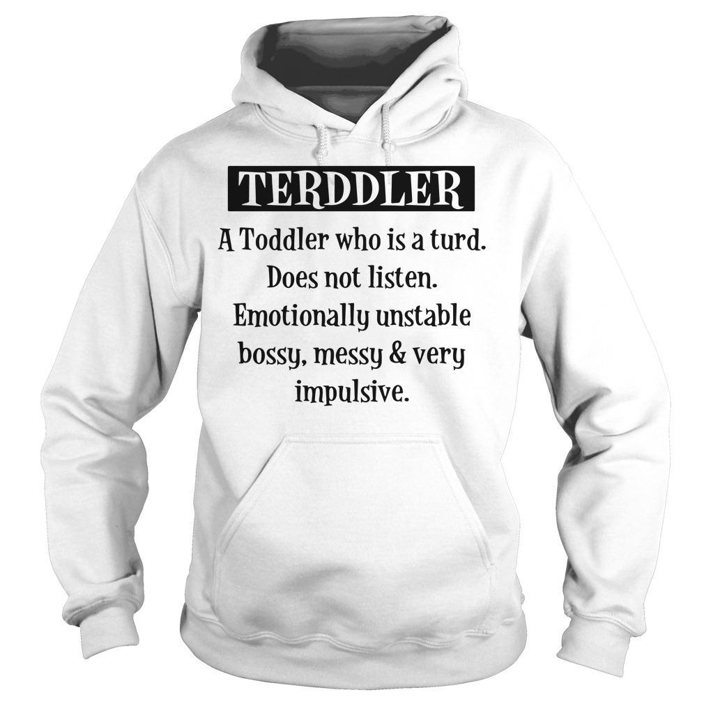 Terddler A Toddler Who Is Turd Hoodie