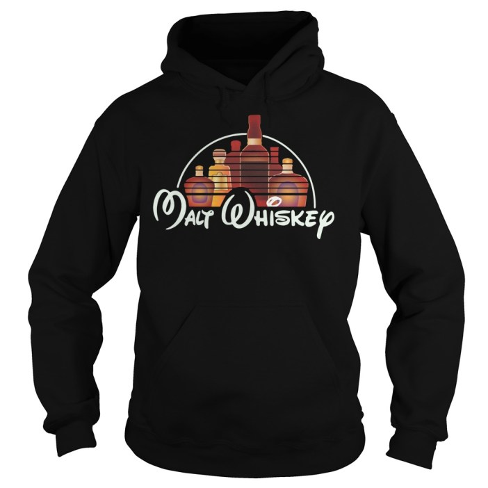 Malt Whiskey Not Walt Disney Hoodie