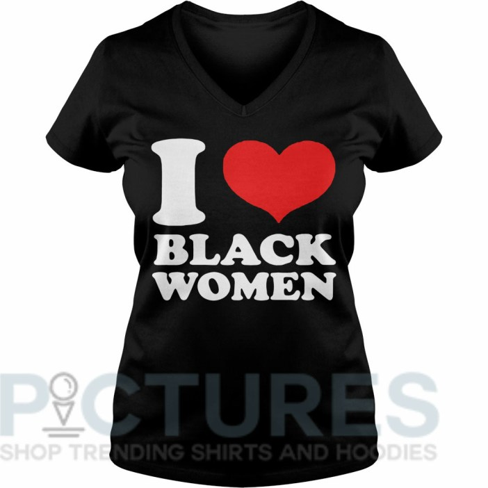 I love black women V-neck