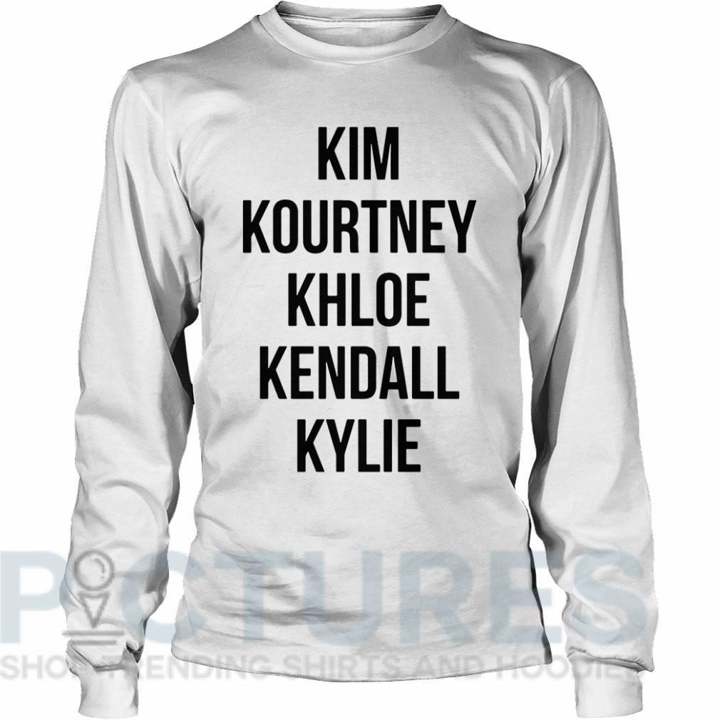 Kim Kourtney Khloe Kendall Kylie Long sleeve