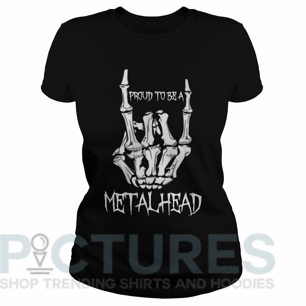 Proud to be a metalhead Ladies tee
