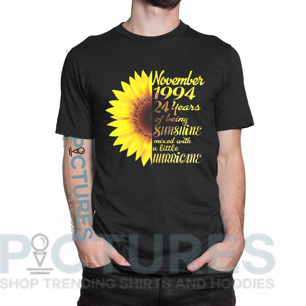 Sunflower November 1994 24 years of being sunshine mixed shirt